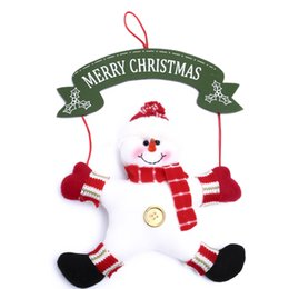 New year Christmas doll Pendant 29cm high with letter sign Santa Claus and Christmas Snowman doll lovely Christmas Room Decor