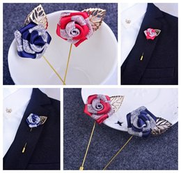 Korean fashion Top grade color alloy rose corsage brooch men and women accessories jewelry factory wholesale flowers