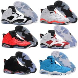 Wholesale Cheap online hot Sale New Best basketball shoes Air Retro VI Carmine Sneaker Sport Shoe VI US