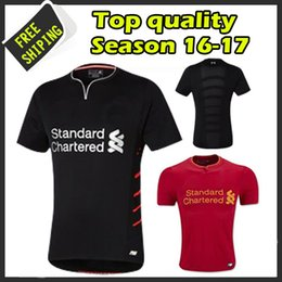 Wholesale New arrived Thai Quality black adult Soccer Jerseys Football shirts maillot de foot