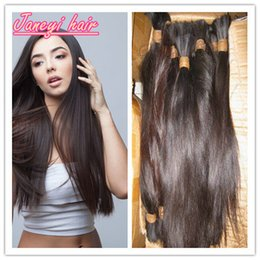 Wholesale 7A Unprocessed Human Hair Bulks Original Natural Hair Color Can Be Dyed Any Color Pure Natural Chinese Hair Bulks Straight