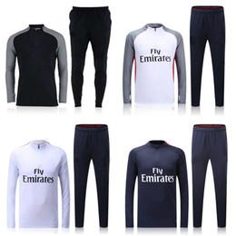 Wholesale 2016 Long Sleeve Winter Parc des Princes Colors Sweater Tracksuit Soccer Sets Football Full Suits Silva Pastore Motta Sport Wear training