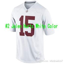 Wholesale Custom Alabama Crimson Tide Jalen Hurts White Color Reuben Foster B J Emmons ArDarius Stewart College Football Stitched Jerseys