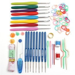Wholesale Durable sizes Crochet hooks Needles Stitches knitting Craft Case crochet set in Case Yarn Hook Stitch Weave Accessories