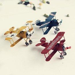 Wholesale ChowDon Novelty Mini Iron Glider Plane Model Craft Ornaments Designer Home Decor Cheap Display Products Sale