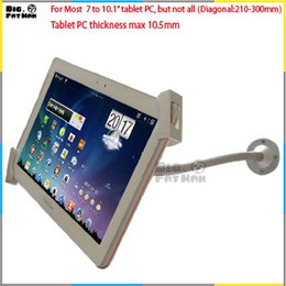 Wholesale Universal wall mount for to10 quot tablet desk secure mounting gooseneck arm tablet holder for ipad Samsung flexible pole brace