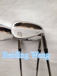 3PCS New Golf Vokey Wedge SM5 With Steel Shaft 52 56 60 Degree Golf Wedge Clubs Silver Color With Grips