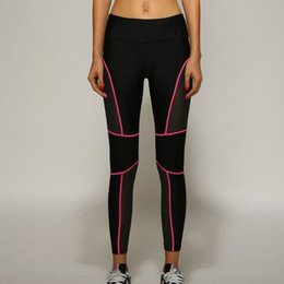 Wholesale Women Sport Running Leggings Patchwork Fitness Yoga Pants Ladies Slim Legging Quick dry Sports Tights for Gym Running Pants Workout Leggings