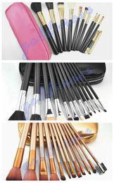 Wholesale HOT Makeup Brushes pieces Professional Makeup Brush set Kit Pink Black nude gold FREE GIFT