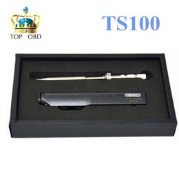 Wholesale Hot DSO Electric Soldering Iron TS100 Digital OLED Programable Iron Station Embedded Interface DC Built in Acceleration