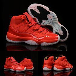 Wholesale Hot Sale Retro XI University Red Golden Women Men Boots Shoes With shoes Box