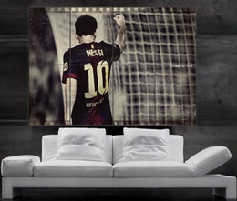 Wholesale Lionel Messi Barcelona FC and argentina Poster print wall art picture parts giant huge size NO116