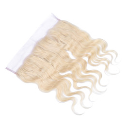 Blonde #613 Human Hair Full Lace Frontal 13x4 Ear To Ear Lace Frontals #613 Pure Color Brazilian Body Wave Lace Frontal
