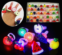 50pcs Birthday Party LED Glowing finger rings favors,Cartoon Flashing Ring Light for Kids toys Events Party Favors free shipping