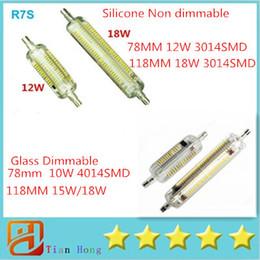 2016 Nouveau R7S LED Lampe de maïs en silicone 12W 18W SMD3014 verre Dimmable 10W 15W 18W 4014SMD Économie d'énergie Remplacer la lumière halogène à partir de lampe halogène 15w conduit fournisseurs