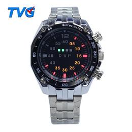 New Luxury TVG Men's Watch StainlessSteel LED Sport Watch Casual Wrist Watch