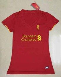 Wholesale Women liverpools tops black soccer jerseys adult tops lady de foot maillot best quality uniform training suits girl jersey