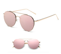 Descuento espejo de cristal clásico 2017 Las lentes de cristal clásicas populares famosas de la aviación de las nuevas mujeres de la marca de fábrica de la marca de fábrica diseñan el espejo Eyewear del diseñador sombrean los vidrios de sol de los hombres SG1014