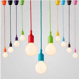 Colorful Silicone Pendant Lights E27 Holder AC90-260V Modern Fashion DIY Design Creative Pendant Lamps 100cm Cord Ceiling Base