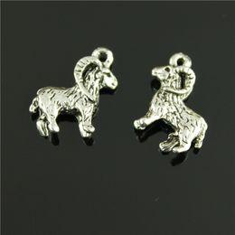 50pcs / plaqué lot 23 * 19mm argent antique charmes de chèvre goat charms on sale à partir de charmes de chèvre fournisseurs