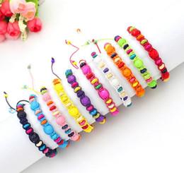 Friendship Bracelet Handmade Flower Beads Woven Rope String Hippy Boho Cotton Friendship Bracelets For Women And Men