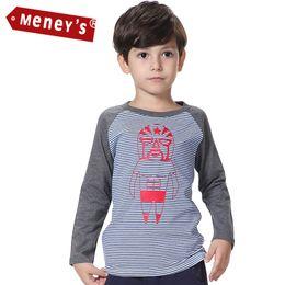 Wholesale Meney's Autumn Boys T-shirts 2016 for Children Full Tees Stripe Kids Tops Cartoon Wrestling Boys Clothes Monster Tshirts Kids