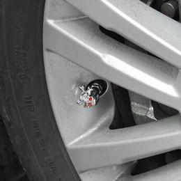 Valves à air de camion en Ligne-Sliver Universal Fancy Pirate Skull Pneu Tire Air Valve Tige Caps pour Auto Car Truck Moto Bike Wheel Jantes