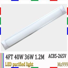 Wholesale LED purified light ft m w AC85 V LED batten light led flat light V Shape Aluminum Alloy PC Cover replace T8 tube