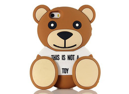 Wholesale 2015 Newest Fashion D Cute Luxury Soft Silicone Teddy Bear Back Case Cover For iphone S G S iphone6 plus
