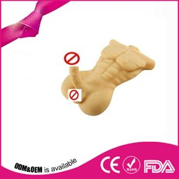 Wholesale Sexy Realistic Mannequins - Real sexy dolls silicone realistic male full silicone sex doll for women or men gay toys products with big dildo