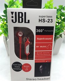 Wholesale JBL HS Universal mm In ear Headphones Earphones Super Bass Headsets for iPhone Samsung Galaxy Smart Phone Fashion Headphone Retail Box