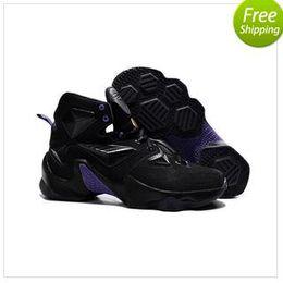 Wholesale Newest arrival fashion Lebrones men infrared LBJ XIII basketball shoes door to door best service size