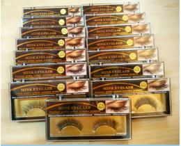 Wholesale 20 Pairs Natural Long False Mink Eyelashes Soft Fake Eye Lash Party Makeup Healt Beauty Make Up False Eyelashes KB422