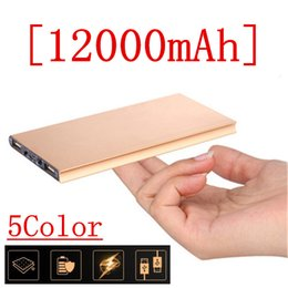 Wholesale 12000mah Polymer Power Bank Mobile Portable Backup External Battery Ultra Thin Slim Book Battery Emergency Powerbank For iPhone S For sam