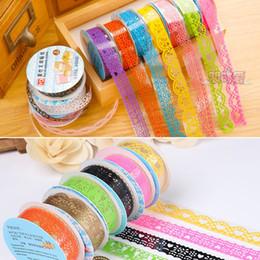Wholesale DIY Cute Colorful Kids Photo Props Lace Flower Tape for Scrapbook Decor Photo Albums Accessories washi tape