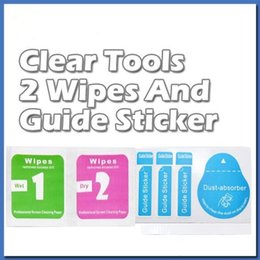Wholesale Cleaning Tools Wet & Dry 2 in 1 Wipe Dust-Absorber Guide Sticker For Tempered Glass Screen Protector