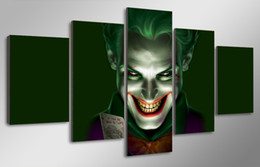 Free shipping 5 piece HD Printed movie joker art Painting Canvas Print room decor print poster picture canvas