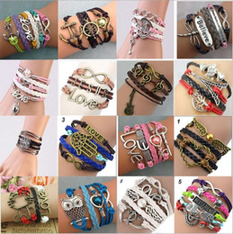 Wholesale Creative DIY bracelet Speed sell hot style source of foreign trade Europe and the United States of big shop sign multilayer woven friendship