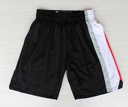 Wholesale Portland Trail Basketball Shorts New Material Rev Sport Shorts Best quality Authentic Shorts S XXL Accept Mix Order