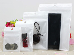 12*20cm Clear + white pearl Plastic Poly OPP packing Zip lock Retail Packages USB Jewelry PVC bag 10*18cm 6*10cm 7.5*12cm 16x24cm 18x26cm