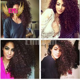 Wholesale Brazilian Hair Kinky Curly Full Lace Wig Human Hair Glueless Lace Front Wigs Deep Kinky Curl Human Hair With Baby Hair Natural Color