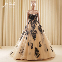 champagne black embroidery trailing ball gown Medieval Renaissance Gown queen cos Victorian dress  Antoinette  Belle ball