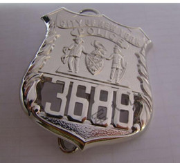 Wholesale The United States of New York NYPD metal badge ordinary member No No No Copper Collection Badge
