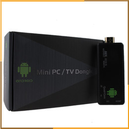 Wholesale Android Quad Core Mini TV Box player MK III TV dongle G G ROM Smart PC Stick Dongle smart tv stick