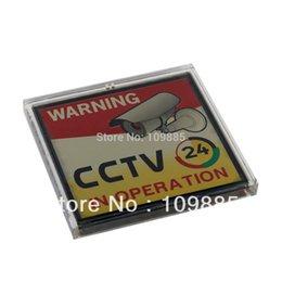Livraison gratuite! 3.15 x 3.15in Clignotant énergie solaire Avertissement Enregistrement vidéo CCTV Connexion à partir de signe d'enregistrement fabricateur