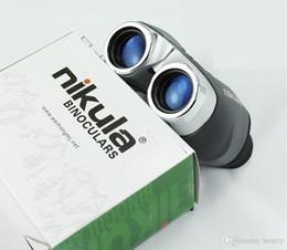 Wholesale 50pcs una bolsa Nikula x22 telescopio portátil al aire libre de la visión nocturna telescopio de alta definición de alta potencia de bolsillo binoculares totalmente óptico del telescopio