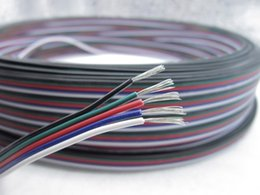LED RGB cable 5Pin 1m 2m 3m 4m 5m 10m 20m 50m 5 Pin Channels LED RGB cable for 5050 3528 LED RGBW Strip Extension Extend Wire Cord Connector