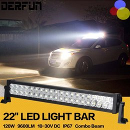 Wholesale 22 Inch W Car cree led Headlight bar for Off Road Indicators Work Driving Offroad Boat Car Truck x4 SUV ATV Fog Spot Flood Combo