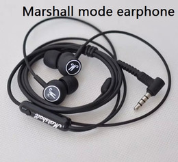 Drop-shipping New Marshall Mode Headphones in- ear headset black earphones with mic HiFi headset universal for mobile phones