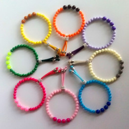 Bead Bracelets Beaded Natural Color Candy Bead Leather Chain Bracelet For Women Hot Sale Free Shipping Valentines Day Gifts